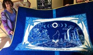 Eclipse quilt back